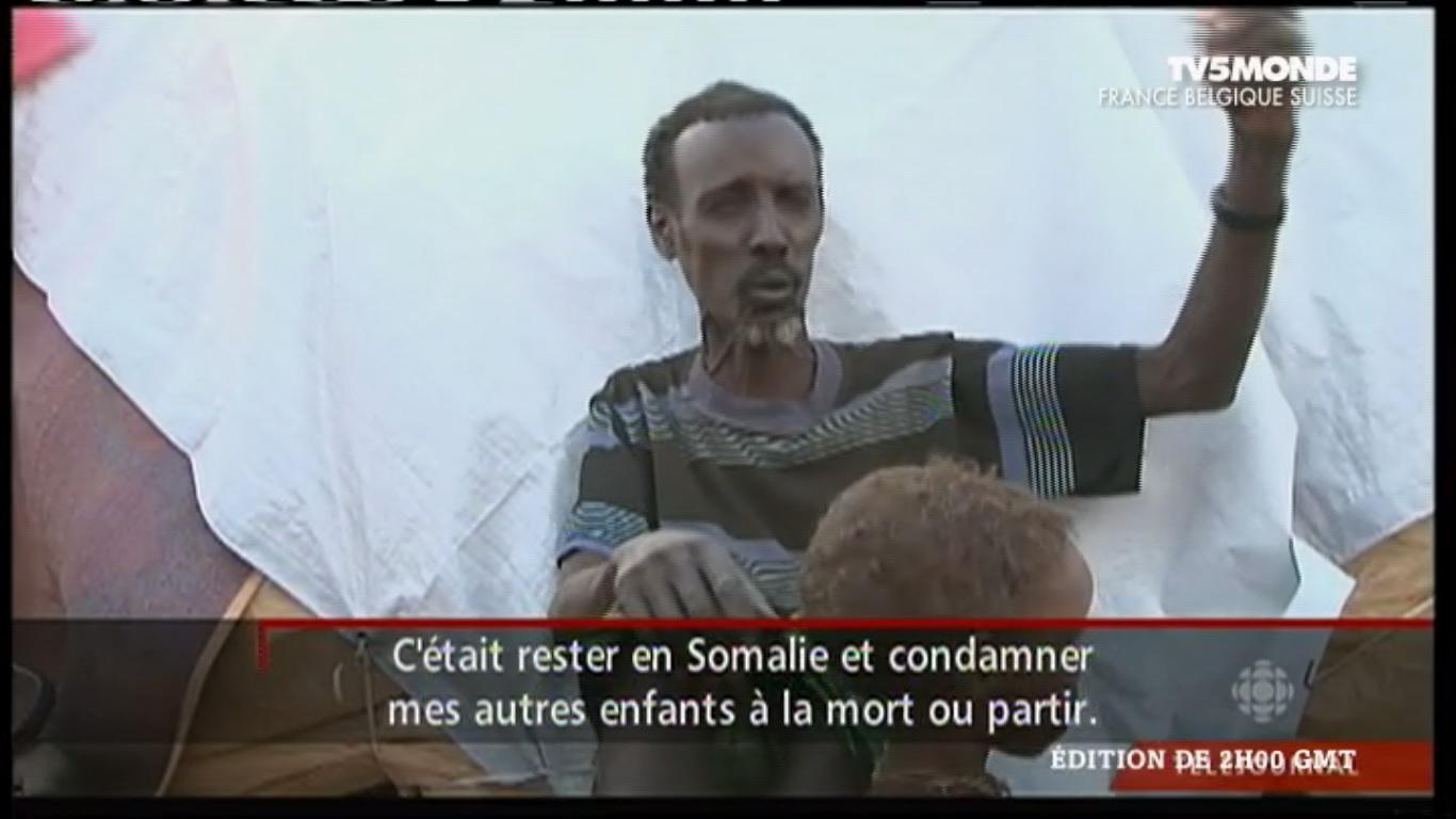 rencontre avec l'un des nombreux réfugiés somaliens de Dadaab