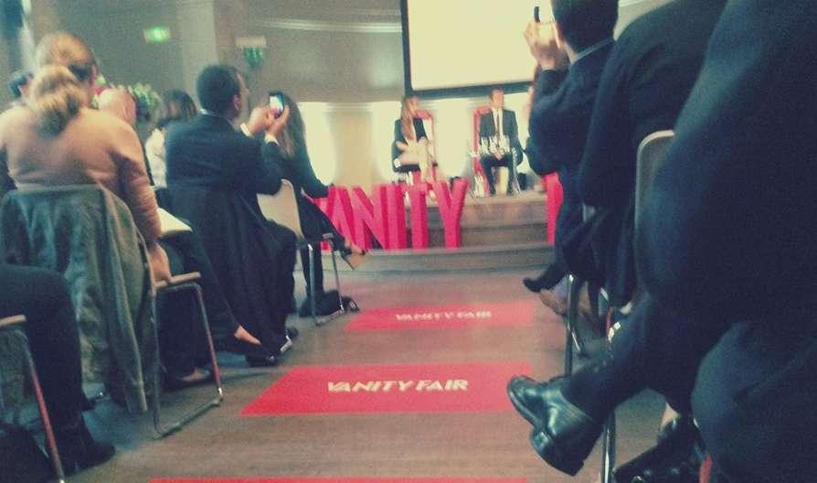 Conférence de lancement de Vanity Fair hier à Paris. Photo : Intégrales Productions.