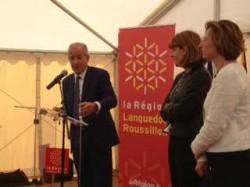 Sénateur divers gauche et président socialiste de la région Languedoc-Roussillon, Christian Bourquin (ici à gauche) a fait un don de 150 euros à l'UMP.