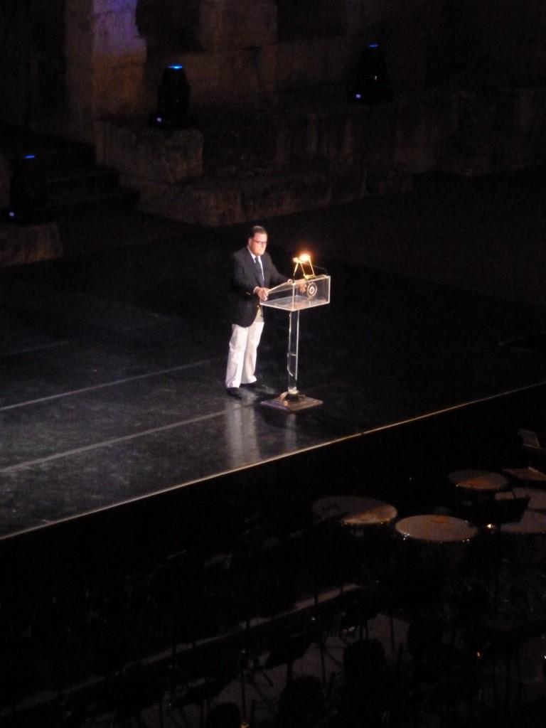 Intervention d'Antonis Samaras au 23ème congrès de philosophie, Athènes (Photo : Intégrales Prod.)