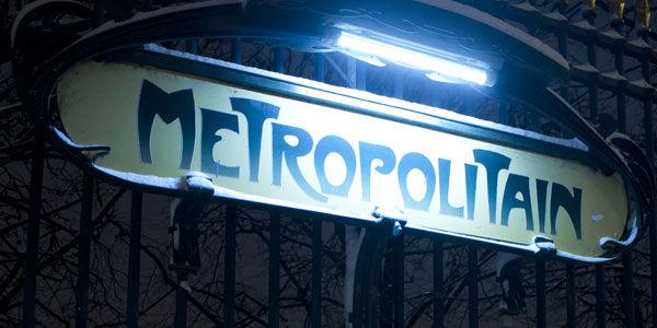 Le métro, ce lieu de charme