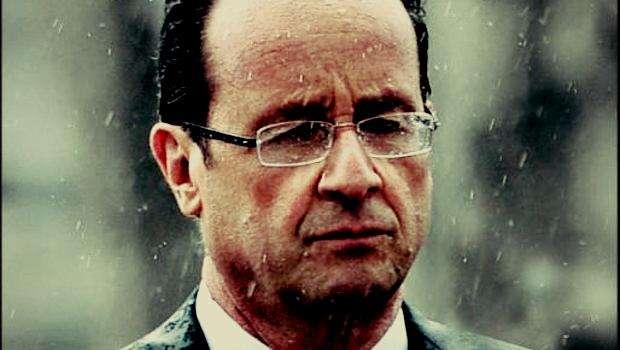 Le président Hollande sous la pluie : un instantané, mille interprétations