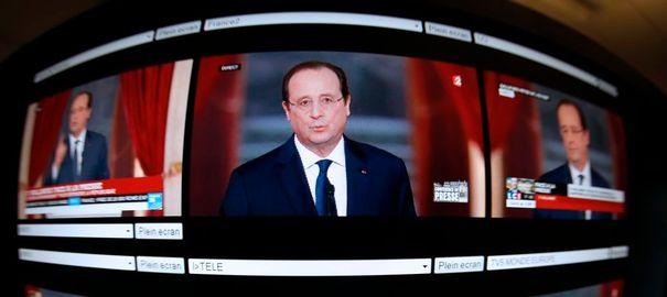 La Conférence du président Hollande a été suivie par plus de 4 Millions de téléspectateurs français