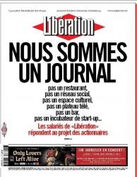 La Une explicite de Libération, datée du 8/02/2014