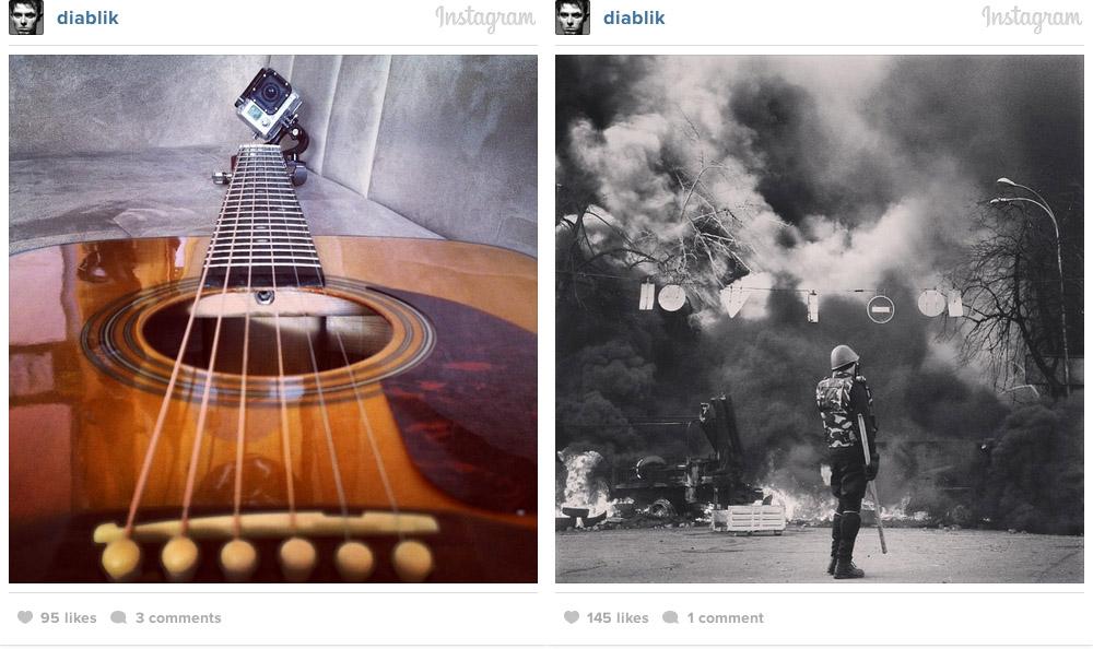 Les selfies et autres photos personnelles ont laissé place aux réalités actuelles du quotidien  (Photo : Instagram, 19/02/14)