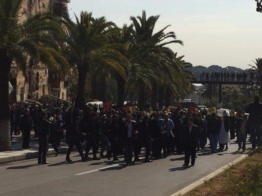 Manifestations contre le 4ème mandat de Bouteflika, à Alger. Photo : F.atig, Intégrales Productions