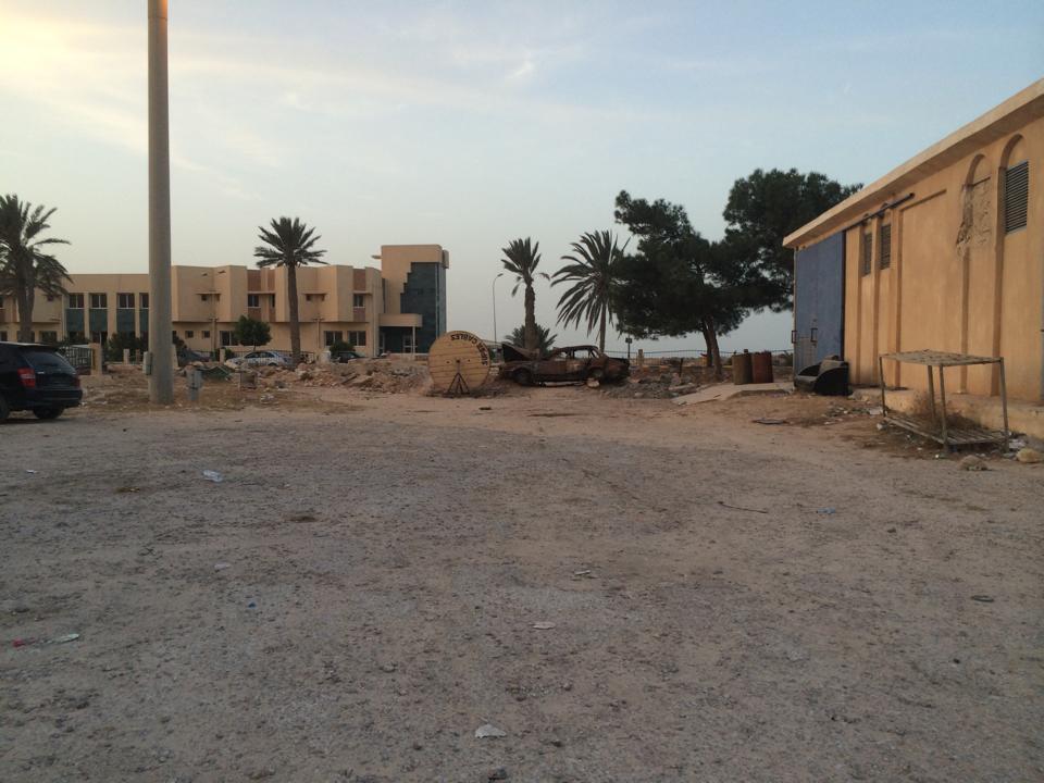 Ras El Jedir, poste frontière libyen menant à la Tunisie.