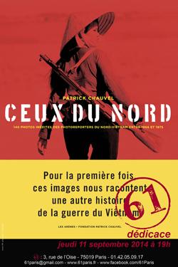 """""""Ceux du Nord"""" : le livre de Patrick Chauvel présenté au 61, 3 rue de l'Oise, à Paris"""