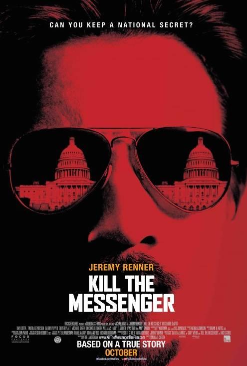 """Affiche du film """"Kill the messenger"""" (""""Secret d'état"""" dans la version française). Le film réalisé par Michael Cuesta s'inspire de l'incroyable saga racontée par le journaliste Gary Webb."""