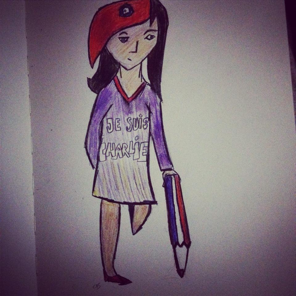Marianne au crayon - dessin de Clara Schmelck, Intégrales Productions