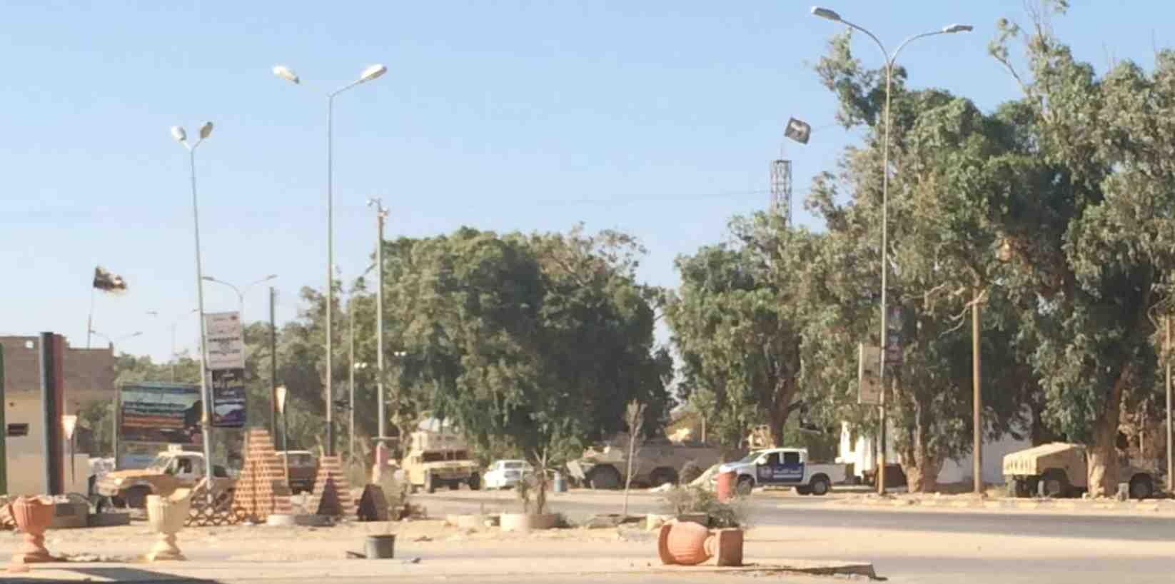 """Dernier checkpoint des fondamentalistes d'""""Ansar-al Charia"""" avant la sortie de Benghazi"""
