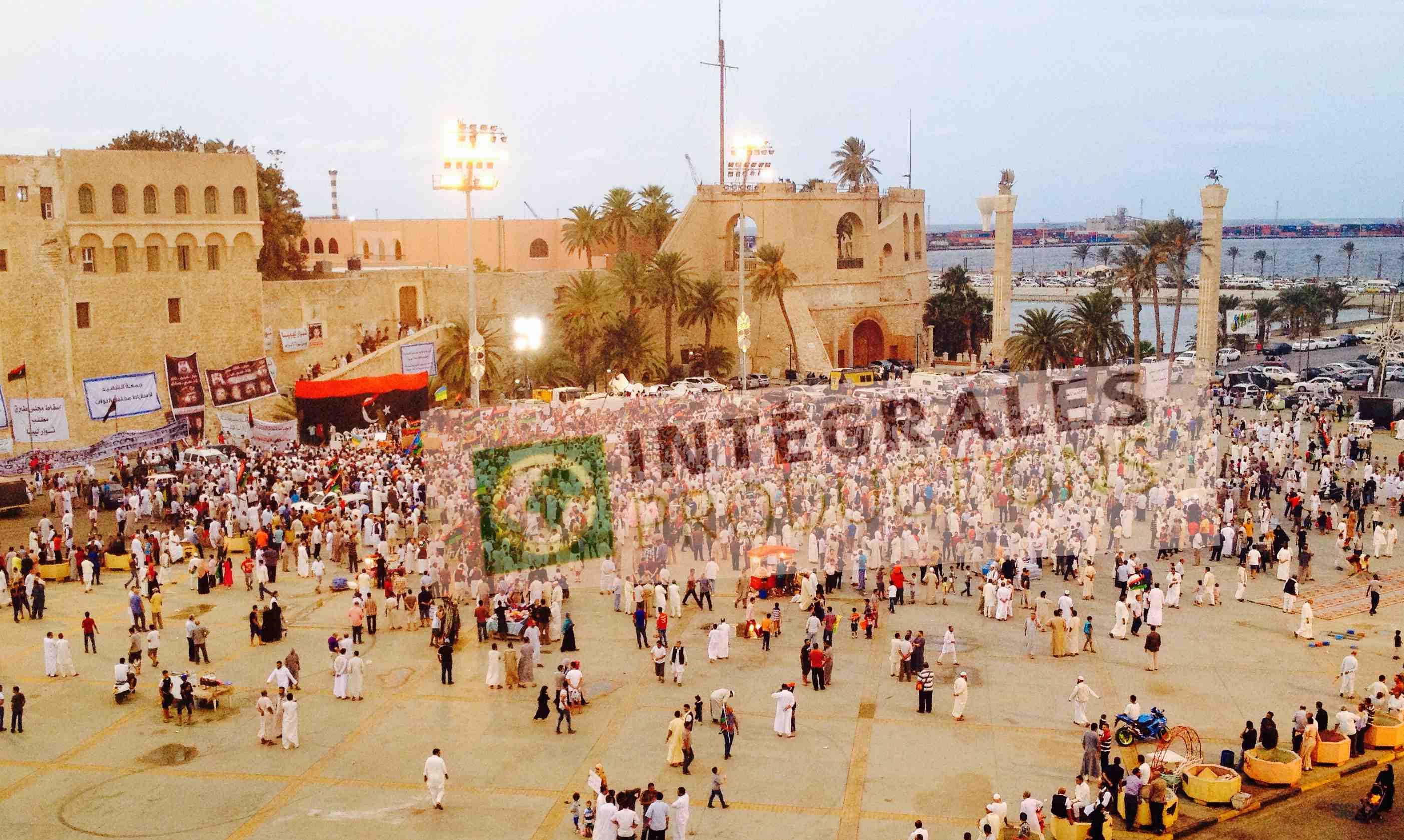 Place des Martyrs, à Tripoli, en octobre dernier. Photo : Intégrales productions
