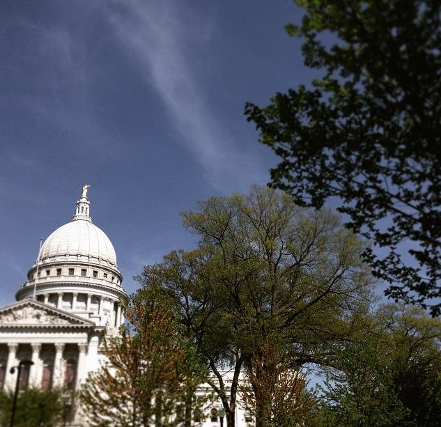 Le capitole abrite à la fois les institutions de la ville de Madison, du Dans county et de l'Etat du Wisconsin. Photo : CS, Intégrales Mag