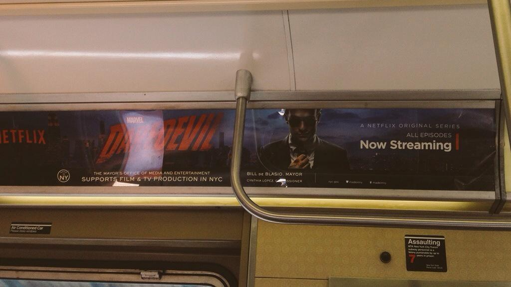 In the NYC subway, Public authorities support the local production (Netflix)