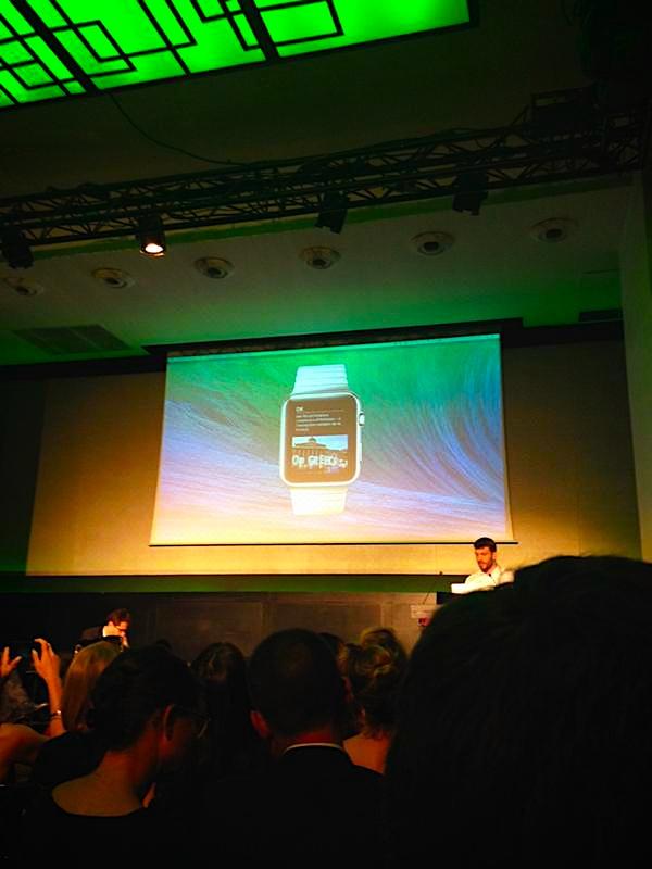 L'apple Watch, présentée lors de la conférence MédiaDemain, et un des device de la déconcentration !
