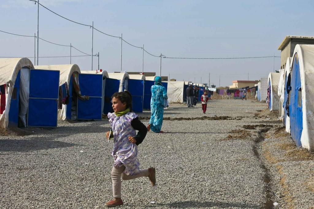Au camp de Khazer, dans le Nord de l'Irak, le 15 novembre 2016. Photo : Fourt/Handicap International