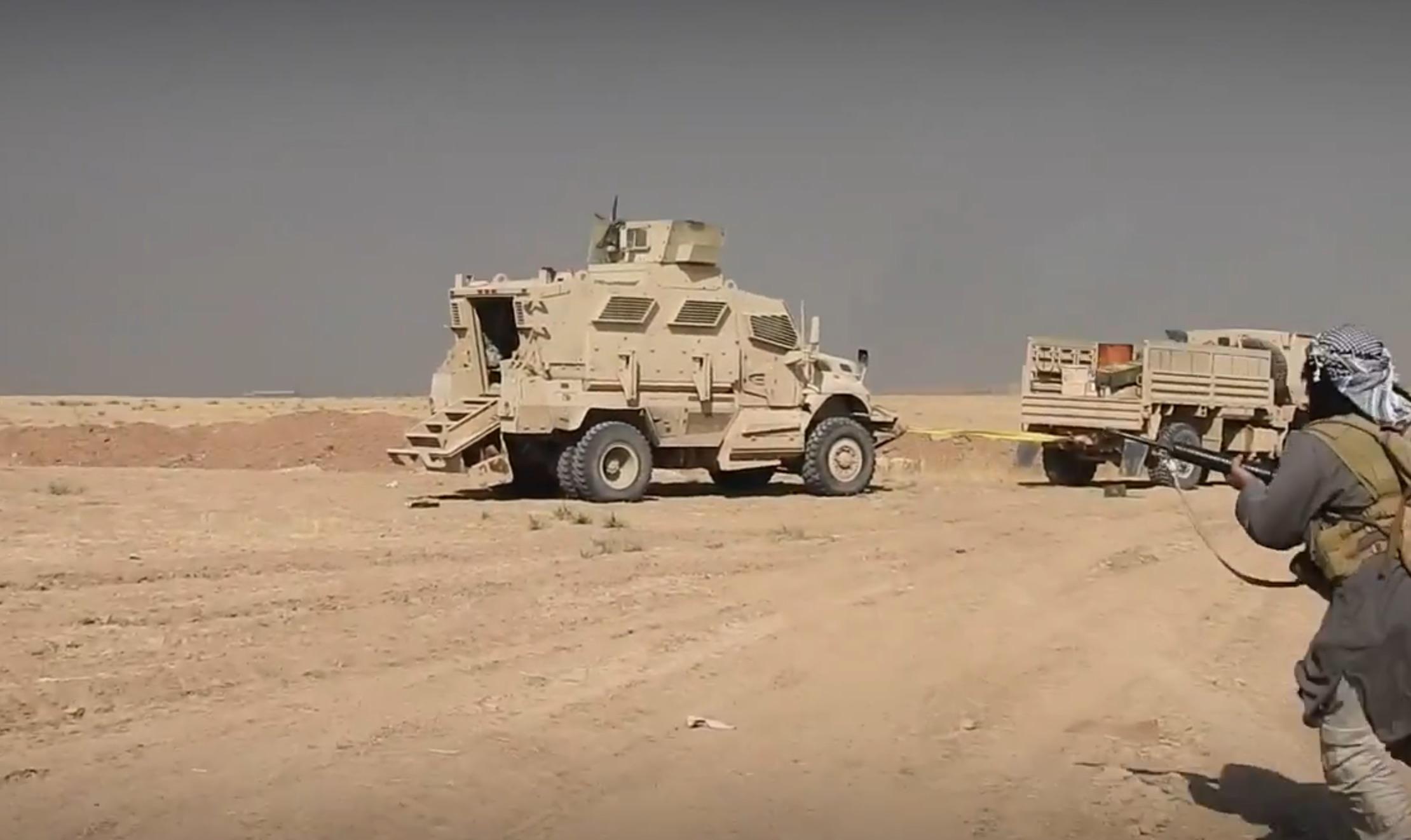 Un combattant de l'état islamique sur le front de Mossoul (image de propagande)