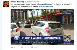 BFM suit Edouard Philippe en taxi. Et s'il était simplement allé faire une course courante ?